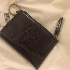 NWT Coach Choc Brown Patent Leather Wallet